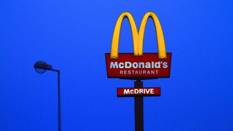 MacDonald's restaurant by night.