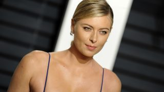 Maria Sharapova attends the 2017 Vanity Fair Oscar Party hosted by Graydon Carter at Wallis Annenberg Center for the Performing Arts on February 26, 2017 in Beverly Hills, California. | Verwendung weltweit/picture alliance