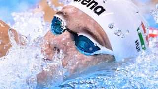 Kristof Rasovszky of Hungary in action during the Men's 1500m Freestyle Heats of the Swimming events of the Rio 2016 Olympic Games at the Olympic Aquatics Stadium in Rio de Janeiro, Brazil, 12 August 2016. Photo: Lukas Schulze/dpa
