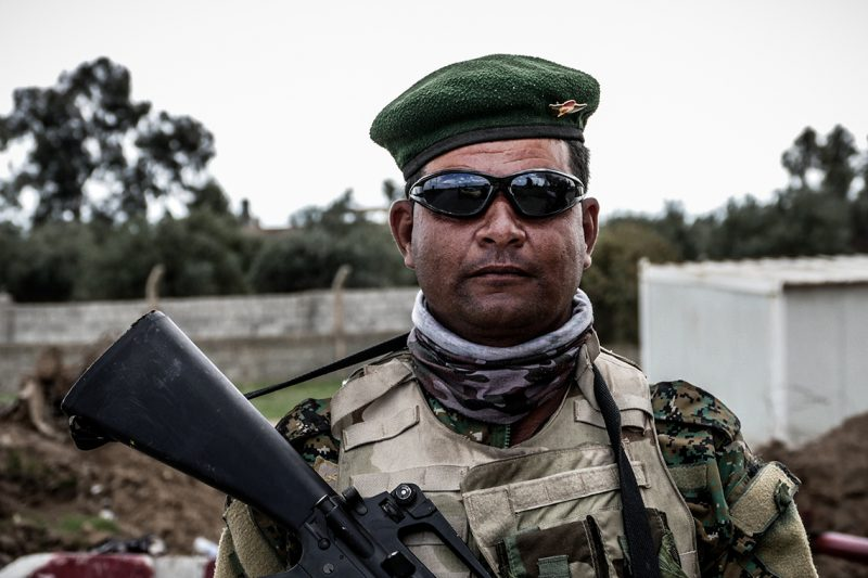 A portrait of an Iraqi Army member in Mosul, Iraq on March 26, 2017. Iraqi forces renewed their assault against the jihadists in Mosul's Old City, after days in wooden the battle was overshadowed by reports of heavy civilian casual ties from air strikes.  (Photo by Gail Orenstein/NurPhoto)