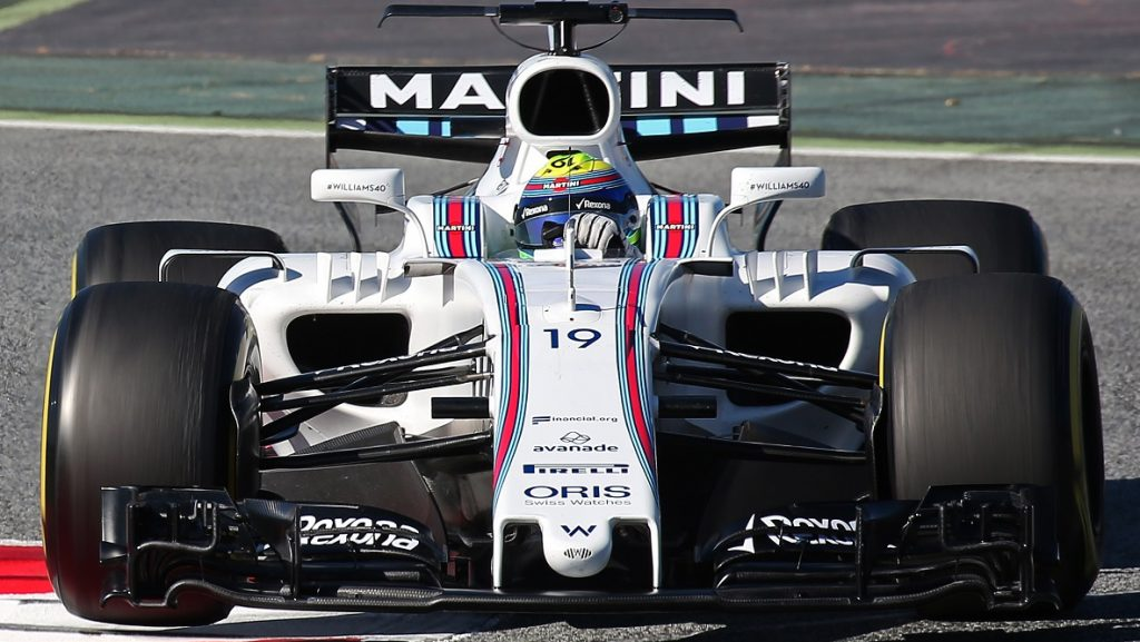 The Williams of Felipe Massa during the Formula 1 tests held in the Barcelona-Catalunya Circuit, on march 07 2017. (Photo by Urbanandsport/NurPhoto)