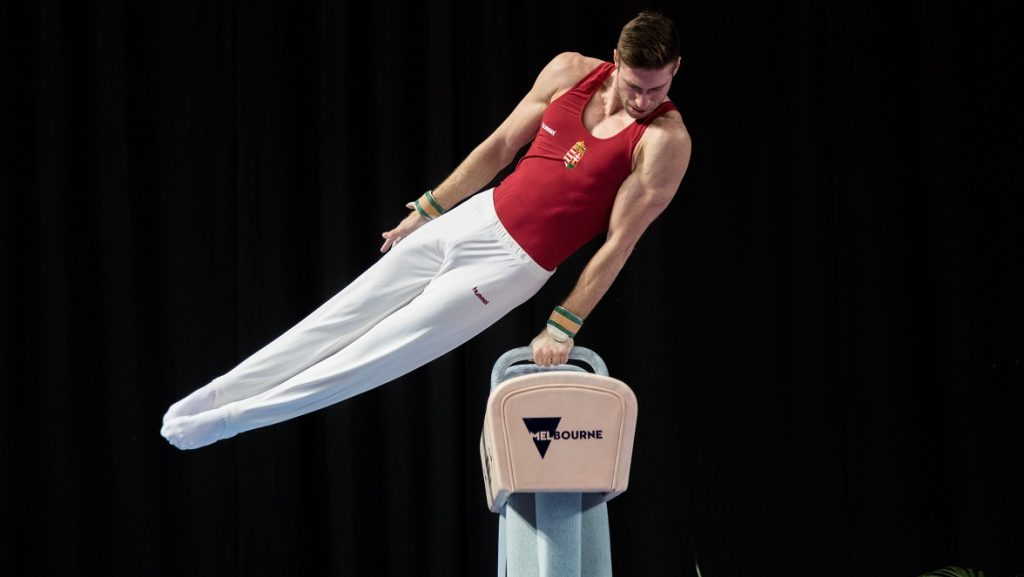 MELBOURNE, AUSTRALIA - FEBRUARY 22 : Krisztian Berki of Hungary competes in the Men's Pommel Horse during the Gymnastics World Cup at Hisense Arena in Melbourne, Australia, February 22, 2017. Asanka Brendon Ratnayake / Anadolu Agency