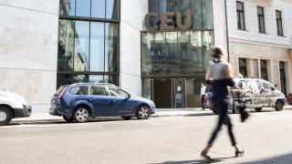 Budapest, 2016. szeptember 15. A Közép-európai Egyetem (CEU) új, energiahatékony, Budapest belvárosában lévõ épülete 2016. szeptember 15-én, az ünnepélyes átadás napján. MTI Fotó: Marjai János
