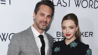 """HOLLYWOOD, CA - MARCH 01:  Actor Thomas Sadoski (L) and actress Amanda Seyfried arrive at the premiere of Bleecker Street Media's """"The Last Word"""" at ArcLight Hollywood on March 1, 2017 in Hollywood, California.  (Photo by Amanda Edwards/Getty Images )"""
