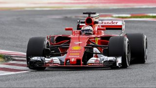 Ferrari's Finnish driver Kimi Raikkonen drives at the Circuit de Barcelona Catalunya on March 8, 2017 in Montmelo, on the outskirts of Barcelona during the second day of the second week of tests for the Formula One Grand Prix season. / AFP PHOTO / Josep Lago