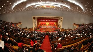 Deputies attend the opening meeting for the Fifth session of the 12th National People's Congress (NPC) at the Great Hall of the People in Beijing, China, 5 March 2017.  The preliminary conference for the Fifth session of the 12th National People's Congress (NPC) was held in Beijing, China, 4 March 2017. The third session of the 12th NPC will open on March 5 in Beijing.