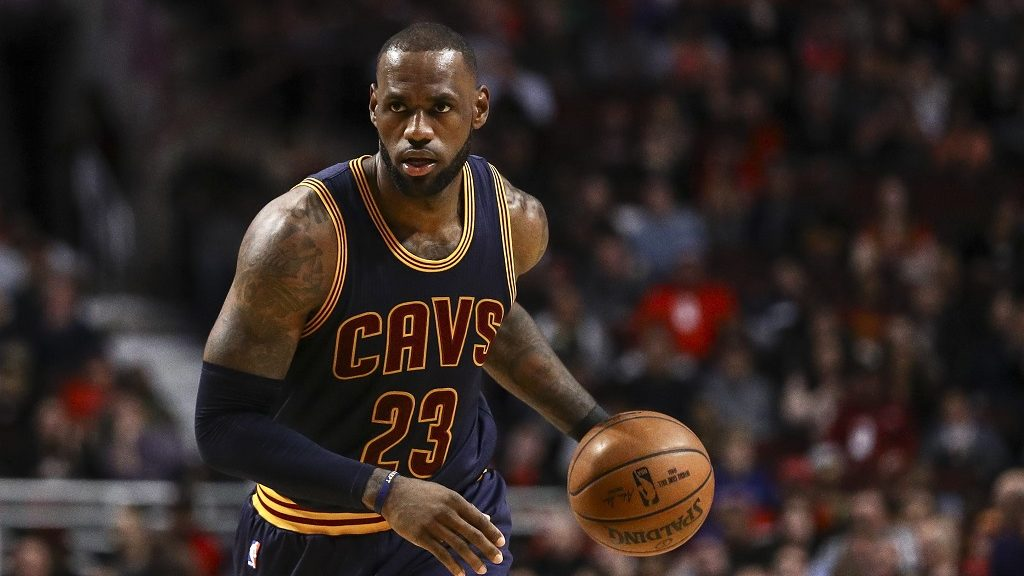 CHICAGO, USA - MARCH 30: LeBron James (23) Cleveland Cavaliers in action during the NBA match between Chicago Bulls vs Cleveland Cavaliers? at the United Center in Chicago, Illinois, United States on March 30, 2017. Bilgin S. Sasmaz / Anadolu Agency