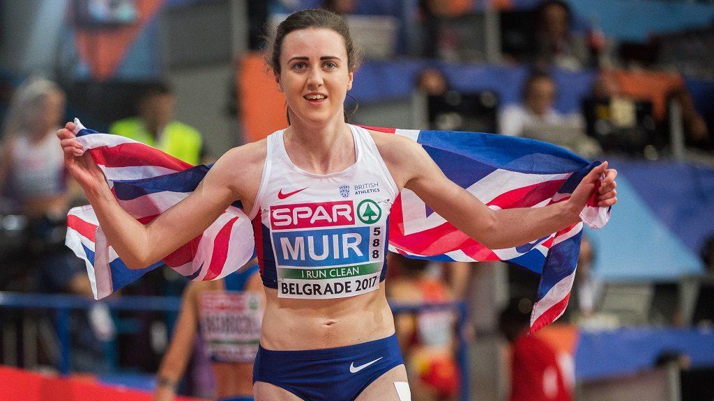 Laura Muir,United Kingdom, winner  of 3000 meter  for women at European athletics indoor championships in Belgrade, 5 march 2017 (Photo by Ulrik Pedersen/NurPhoto)