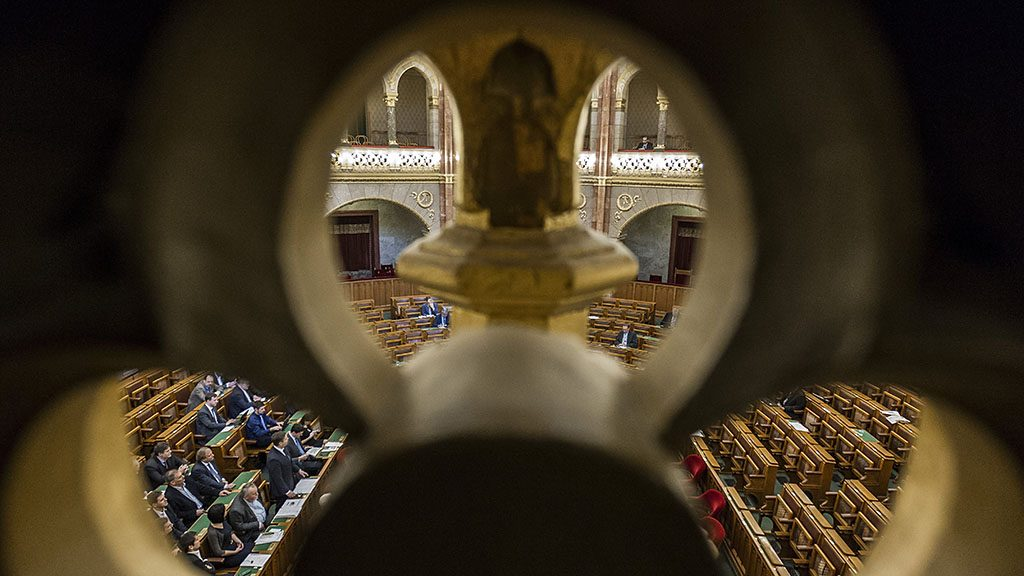 Budapest, 2017. február 27.Az Országgyűlés plenáris ülése 2017. február 27-én.MTI Fotó: Szigetváry Zsolt