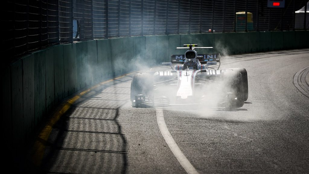 STROLL Lance (can) Williams f1 Mercedes FW40 action crash during 2017 Formula 1 championship at Melbourne, Australia Grand Prix, from March 23 To 26 - Photo Florent Gooden / DPPI