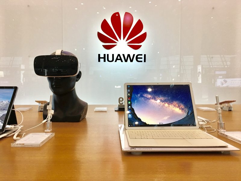 A showroom of Huawei in Shenzhen, China, on March 28, 2017. The Chinese smartphone-maker Huawei has won a patent victory over its South Korean rival Samsung. A Chinese court in Quanzhou has ordered the Galaxy S8-maker to pay 80m yuan ($11.6m; £9.3m) to Huawei for infringing the firm's smartphone cellular technologies. The two are also suing each other over patents in other courts.