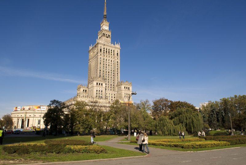 Poland, Mazovia Region, Warsaw, Palac Kultury i Nauki (Science and Culture Palace)