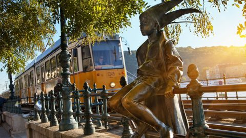 Hungary, Budapest, listed as World Heritage by UNESCO, Little Princess by Marton Laszlo