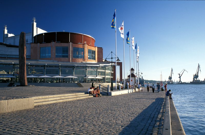 Sweden, Gothenburg, The harbour The Opera House,