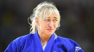 Eva Csernoviczki of Hungary reacts during her fight against Paula Pareto of Argentina during the Women's -48kg Judo event of the Rio 2016 Olympic Games at the Carioca Arena 2, Rio de Janeiro, Brazil, 6 August 2016. Photo: Felix Kaestle/dpa