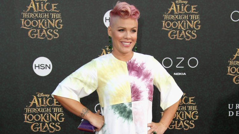 """HOLLYWOOD, CA - MAY 23: Singer-songwriter P!nk attends the premiere of Disney's """"Alice Through The Looking Glass at the El Capitan Theatre on May 23, 2016 in Hollywood, California.   Frederick M. Brown/Getty Images/AFP"""
