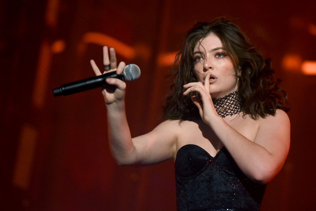 INDIO, CA - APRIL 23: Singer Lorde performs on the Coachella Stage during day 3 (Weekend 2) of the Coachella Valley Music And Arts Festival on April 23, 2017 in Indio, California.   Kevin Winter/Getty Images for Coachella/AFP
