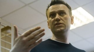 MOSCOW, RUSSIA - MARCH 27: Russian opposition politician Alexei Navalny is seen during the trial of his detention on an unauthorized rally against corruption in the Tverskoy court of the city in Moscow, Russia, on March 27, 2017. Nikita Shvetsov / Anadolu Agency