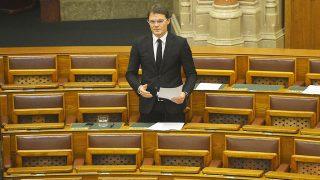 Budapest, 2014. november 20.Bánki Erik fideszes képviselő felszólal a jövő évi költségvetés általános vitájában, az Országgyűlés plenáris ülésén 2014. november 20-án.MTI Fotó: Illyés Tibor