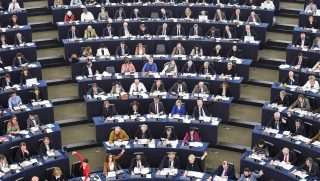 "Members of the European Parliament take part in a voting session at the European Parliament in Strasbourg, eastern France, on April 5, 2017. The European Parliament on April 5, 2017 overwhelmingly adopted ""red lines"" for negotiations over a Brexit deal, including demanding Britain first agree divorce terms before striking a new trade deal. The assembly in Strasbourg, which will have a final veto on any Brexit deal in two years' time, adopted the guidelines by 516 votes for to 133 against with 50 abstentions.  / AFP PHOTO / Sebastien Bozon"
