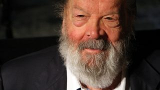 """POTSDAM, GERMANY - MAY 17:  Bud Spencer, Italian actor, film producer, pilot and former professional swimmer, signs copies of the German translation of his autobiography,""""Mein Leben, meine Filme"""" (""""My Life, My Films"""") at UCI Kinowelt on May 17, 2013 in Potsdam, Germany. Born Carlo Pedersoli near Naples in 1929, Spencer is known for his Spaghetti Western action-comedy roles.  (Photo by Adam Berry/Getty Images)"""