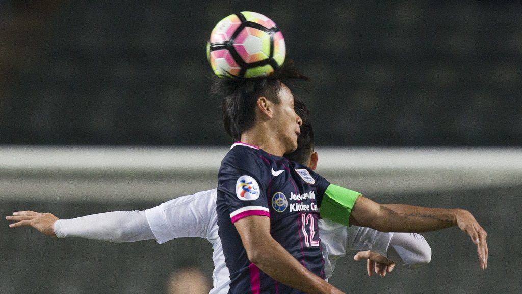 Kitchee SC (HKG) vs Hanoi FC (VIE) during the AFC Champions League 2017 Preliminary Stage match at the Hong Kong Stadium on 25 January 2017 in Hong Kong, China.  Hong Kong?s Kitchee set up a date with Korea Republic?s Ulsan Hyundai FC in the 2017 AFC Champions League Play-offs thanks to a 3-2 extra-timewin against Hanoi FC of Vietnam in their Preliminary Stage 2 match on Wednesday