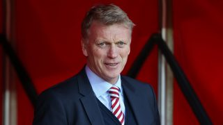 Sunderland's Scottish manager David Moyes arrives for the English Premier League football match between Sunderland and Manchester City at the Stadium of Light in Sunderland, north-east England on March 5, 2017. / AFP PHOTO / SCOTT HEPPELL / RESTRICTED TO EDITORIAL USE. No use with unauthorized audio, video, data, fixture lists, club/league logos or 'live' services. Online in-match use limited to 75 images, no video emulation. No use in betting, games or single club/league/player publications.  /
