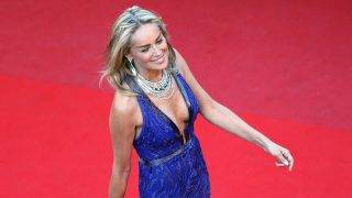 """US actress Sharon Stone arrives on May 21, 2013 for the screening of the film """"Behind the Candelabra"""" presented in Competition at the 66th edition of the Cannes Film Festival in Cannes. Cannes, one of the world's top film festivals, opened on May 15 and will climax on May 26 with awards selected by a jury headed this year by Hollywood legend Steven Spielberg.     AFP PHOTO / LOIC VENANCE / AFP PHOTO / LOIC VENANCE"""