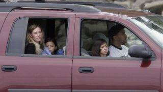 Mary Letourneau, 43, and her fiance Vili Fualaau, 22, and their two children, drive along the beach from their home in the Seattle suburb of Normandy Park, WA. on May 8, 2005. Letourneau spent more than 7 years in jail for having sex with Fualaau when he was her 12-year old student, and the two have announced plans to wed some time this May. AFP PHOTO    GETTY IMAGES/RON WURZER / AFP PHOTO / Getty Images North America / RON WURZER