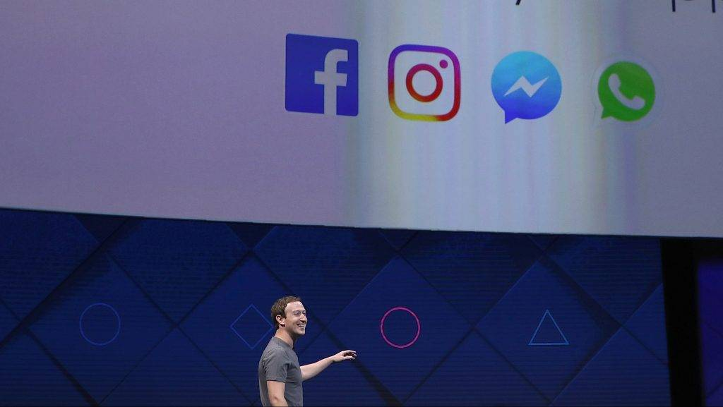 SAN JOSE, CA - APRIL 18: Facebook CEO Mark Zuckerberg delivers the keynote address at Facebook's F8 Developer Conference on April 18, 2017 at McEnery Convention Center in San Jose, California. The conference will explore Facebook's new technology initiatives and products.   Justin Sullivan/Getty Images/AFP