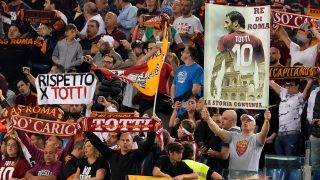 A.S. Roma supporter's during the Italian Serie A football match between A.S. Roma and F.C. Juventus at the Olympic Stadium in Rome, on may 14, 2017. (Photo by Silvia Lore/NurPhoto)