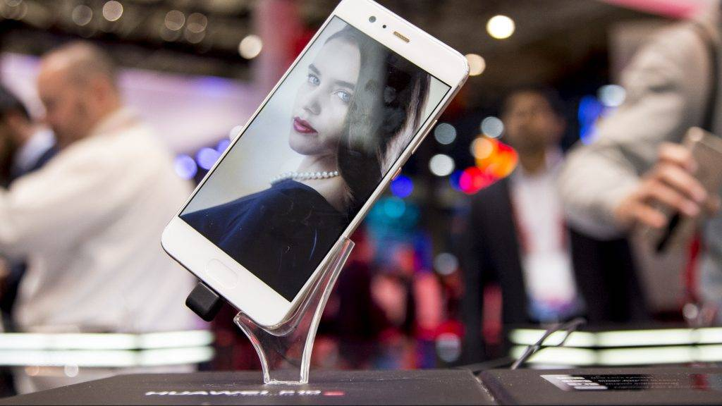 Detail of the smatphone Huawei P10 between the february 27 and the march 2 during the Mobile World Congress in Barcelona, Spain (Photo by Miquel Llop/NurPhoto)