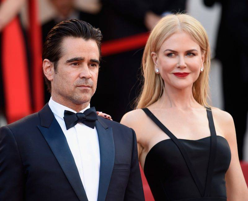 """CANNES, FRANCE - MAY 22:  Actors Colin Farrell (L) and Nicole Kidman attend the """"The Killing Of A Sacred Deer"""" screening during the 70th annual Cannes Film Festival at Palais des Festivals on May 22, 2017 in Cannes, France.  (Photo by Antony Jones/Getty Images)"""