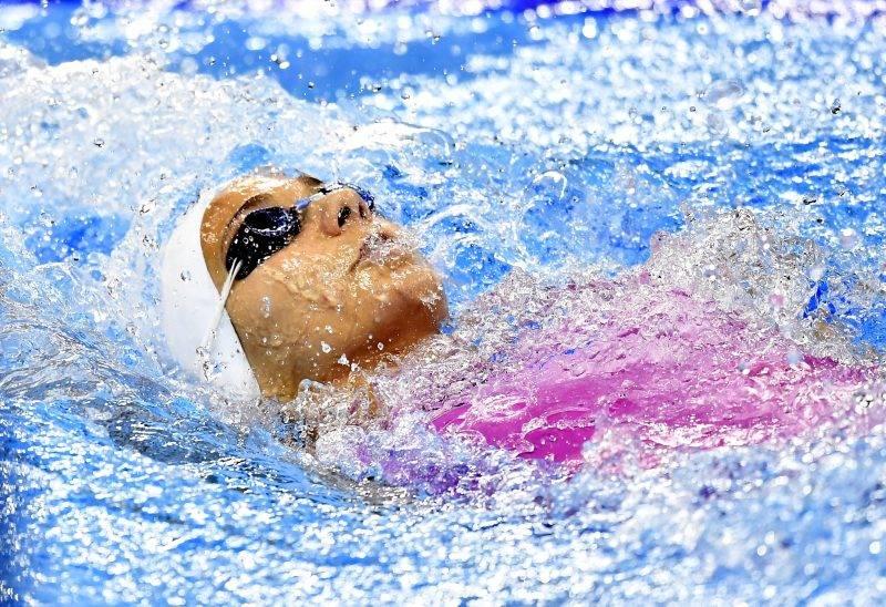 Rio de Janeiro, 2016. augusztus 11. György Réka a riói nyári olimpia nõi 200 méteres hátúszás versenyszámának elõfutamában a Rio de Janeiró-i Olimpiai Uszodában 2016. augusztus 11-én. György Réka nem jutott be az elõdöntõbe. MTI Fotó: Illyés Tibor