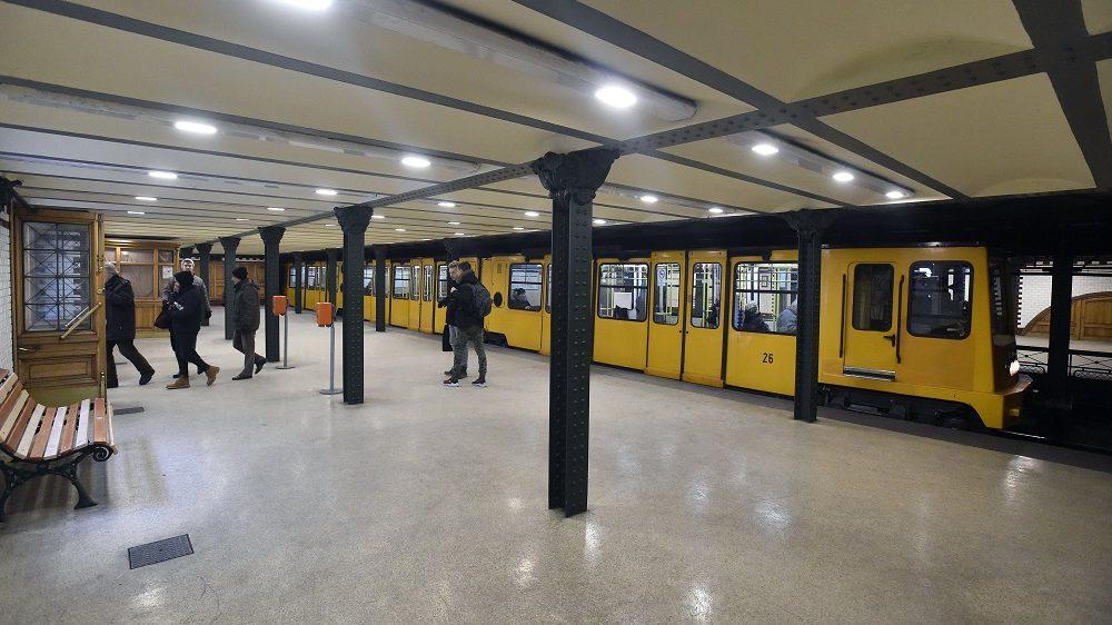 Budapest, 2017. január 17. Az 1-es metróvonal, a Millenniumi Földalatti Vasút, közismert nevén Kisföldalatti Hõsök tere állomása 2017. január 17-én. MTI Fotó: Máthé Zoltán