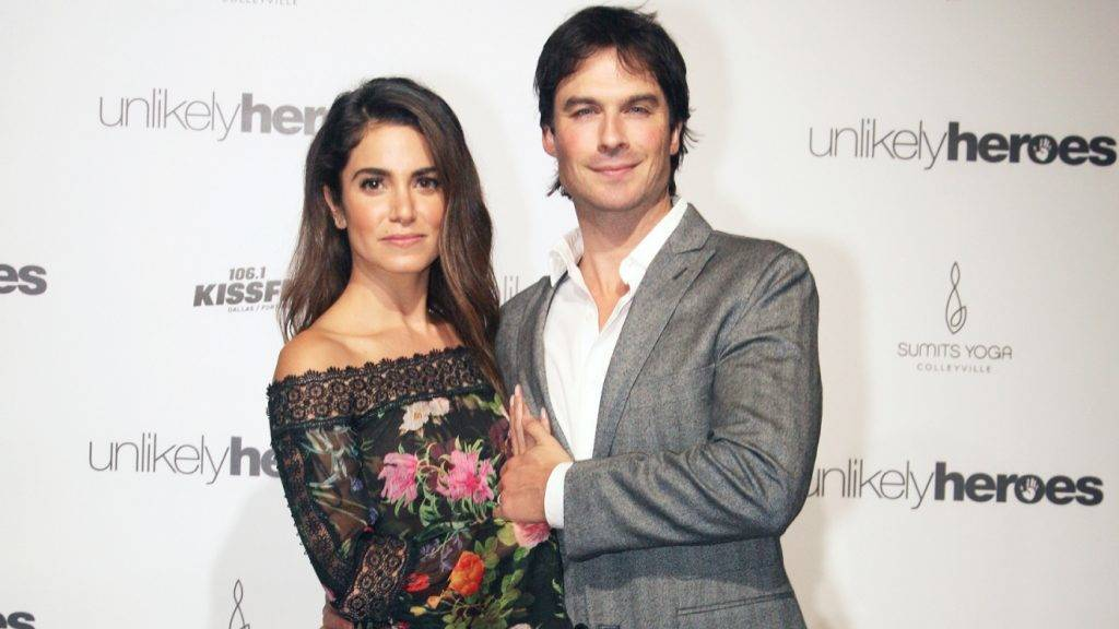 DALLAS, TEXAS - NOVEMBER 12:  Nikki Reed and Ian Somerhalder attend the Unlikely Heroes 4th Annual Recognizing Heroes Charity Benefit at The Ritz-Carlton, Dallas on November 12, 2016 in Dallas, Texas.  (Photo by Peter Larsen/Getty Images for Unlikely Heroes)