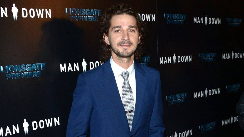 """HOLLYWOOD, CA - NOVEMBER 30:  Actor Shia LaBeouf attends the premiere of Lionsgate Premiere's """"Man Down"""" at ArcLight Hollywood on November 30, 2016 in Hollywood, California.  (Photo by Matt Winkelmeyer/Getty Images)"""