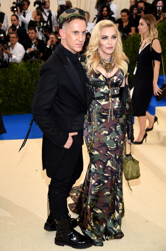 """NEW YORK, NY - MAY 01:  Jeremy Scott and Madonna attend the """"Rei Kawakubo/Comme des Garcons: Art Of The In-Between"""" Costume Institute Gala at Metropolitan Museum of Art on May 1, 2017 in New York City.  (Photo by Dimitrios Kambouris/Getty Images)"""