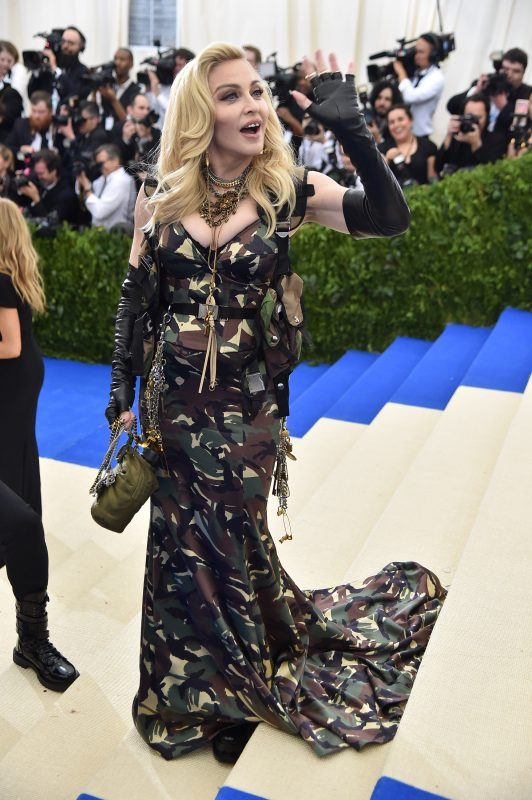"""NEW YORK, NY - MAY 01:  Madonna attends the """"Rei Kawakubo/Comme des Garcons: Art Of The In-Between"""" Costume Institute Gala at Metropolitan Museum of Art on May 1, 2017 in New York City.  (Photo by Theo Wargo/Getty Images For US Weekly)"""