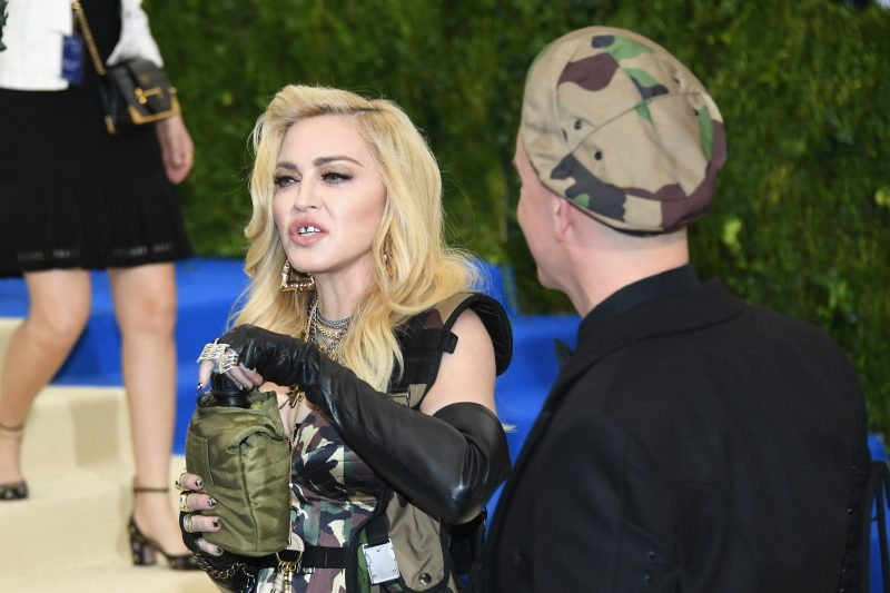 """NEW YORK, NY - MAY 01:  Madonna and Jeremy Scott attend the """"Rei Kawakubo/Comme des Garcons: Art Of The In-Between"""" Costume Institute Gala at Metropolitan Museum of Art on May 1, 2017 in New York City.  (Photo by Dia Dipasupil/Getty Images For Entertainment Weekly)"""