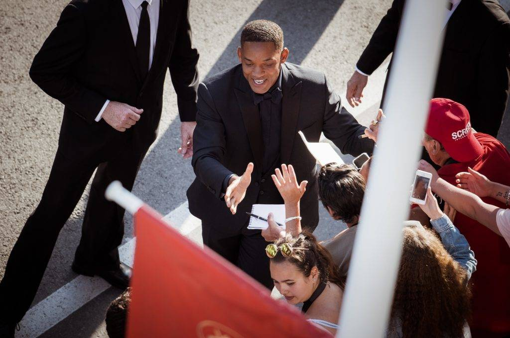 CANNES, FRANCE - MAY 23:  (EDITORS NOTE : this image has been processed with digital filters) Will Smith attends the 70th Anniversary Event during the 70th annual Cannes Film Festival at Palais des Festivals on May 23, 2017 in Cannes, France.  (Photo by Francois Durand/Getty Images)