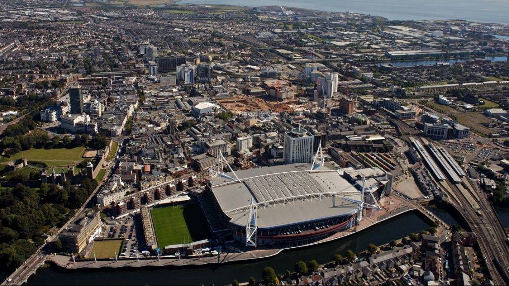 GLAMORGAN, WALES - OCTOBER 31: The Millenium Stadium and Cardiff City Centre on October 31, 2008.  (Photo by David Goddard/Getty Images)