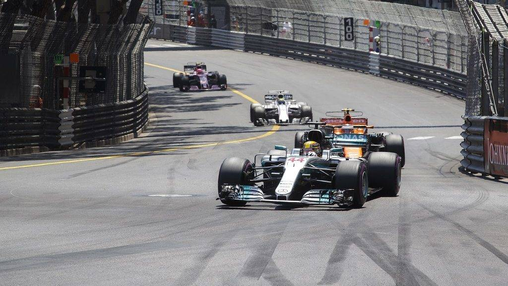 HAMILTON Lewis (gbr) Mercedes W08 Hybrid EQ Power+ team Mercedes GP action during the 2017 Formula One World Championship, Grand Prix of Monaco from on May 28th in Monte Carlo - Photo Frederic Le Floc'h / DPPI