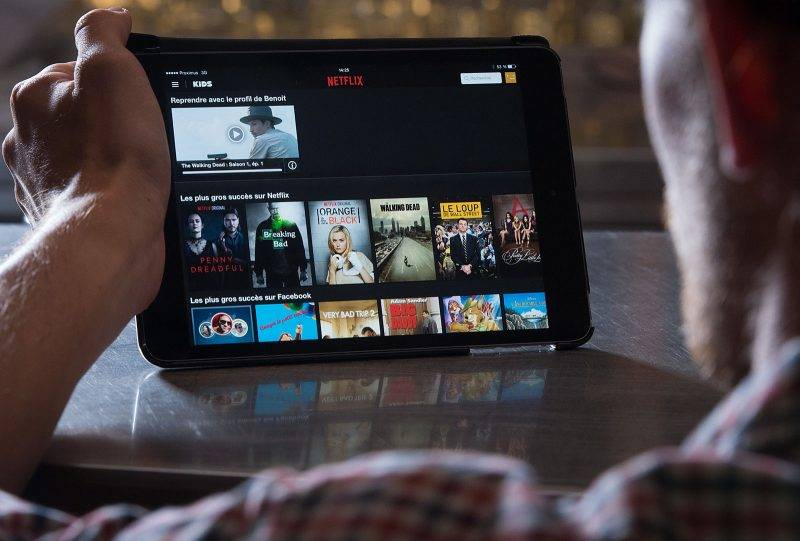 20140919 - BRUSSELS, BELGIUM: Illustration shows screen of Netflix pictured in marge of a photoshoot on the day of the launch of Netflix application in Belgium, at Amigo hotel in Brussels, Friday 19 September 2014. BELGA PHOTO BENOIT DOPPAGNE