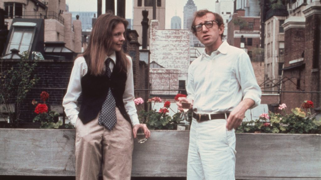 Annie Hall Year : 1977 USA Director : Woody Allen Woody Allen, Diane Keaton Photo: Brian Hamill. It is forbidden to reproduce the photograph out of context of the promotion of the film. It must be credited to the Film Company and/or the photographer assigned by or authorized by/allowed on the set by the Film Company. Restricted to Editorial Use. Photo12 does not grant publicity rights of the persons represented.