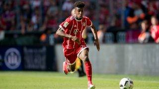 Munich's Kingsley Coman on the ball during the German Bundesliga soccer match between Bayern Munich and SC Freiburg in thr Allianz Arena in Munich, Germany, 20 May 2017. (ATTENTIONEDITORS: Wire service use only by permission.) Photo: Thomas Eisenhuth/dpa-Zentralbild/ZB