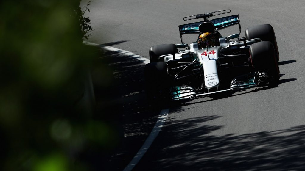 MONTREAL, QC - JUNE 10: Lewis Hamilton of Great Britain driving the (44) Mercedes AMG Petronas F1 Team Mercedes F1 WO8 on track during final practice for the Canadian Formula One Grand Prix at Circuit Gilles Villeneuve on June 10, 2017 in Montreal, Canada.   Clive Mason/Getty Images/AFP