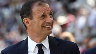 Juventus coach Massimiliano Allegri during the Serie A football match n.37 JUVENTUS - CROTONE on 21/05/2017 at the Juventus Stadium in Turin, Italy.  (Photo by Matteo Bottanelli/NurPhoto)