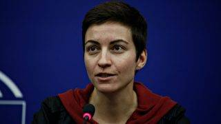 Co-Chair of the Group of the Greens/European Free Alliance Ska Keller, gives a press conference at the European Parliament in Strasbourg, France on Feb. 14, 2017