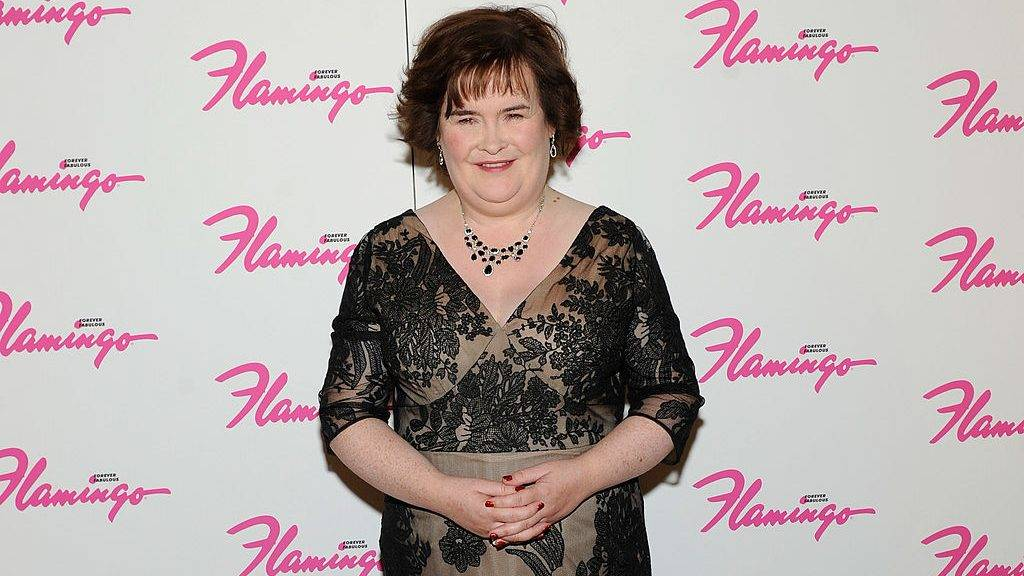 LAS VEGAS, NV - OCTOBER 17:  Singer Susan Boyle appears after performing during the Donny & Marie variety show at the Flamingo Las Vegas October 17, 2012 in Las Vegas, Nevada.  (Photo by David Becker/Getty Images)